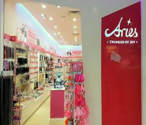 Aries accessories store at Lot One Shoppers' Mall in Singapore.