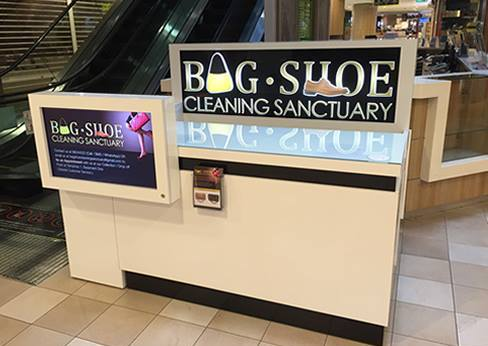 Bag Shoe Cleaning Sanctuary at Tampines 1 mall in Singapore.
