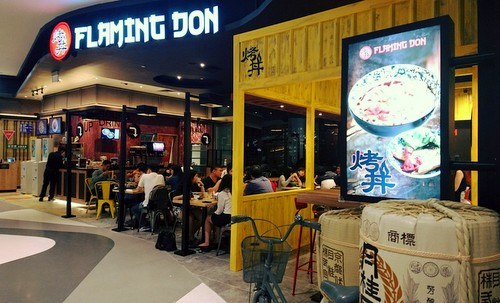 Flaming Don Japanese restaurant in Singapore.