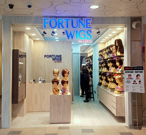 Fortune Wigs shop at Tampines 1 mall in Singapore.
