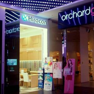 Hirocon optical store at Orchard Gateway mall in Singapore.