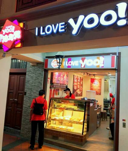 Iloveyoo snack shop in Chinatown, Singapore.