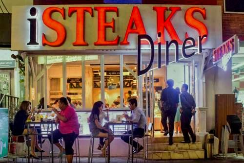 iSTEAKS Diner restaurant in Singapore.
