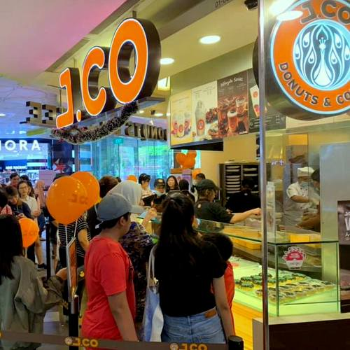 J.CO Donuts & Coffee cafe in Singapore.