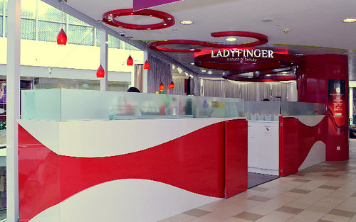 Ladyfinger nail salon at Tampines 1 mall in Singapore.