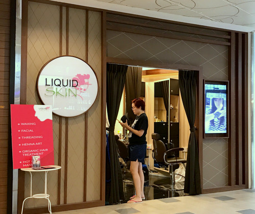 LiquidSKIN beauty salon at Tampines 1 mall in Singapore.