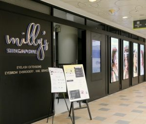 Milly's beauty salon at Tampines 1 shopping centre in Singapore.