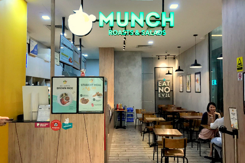 Munch Roasts & Salads restaurant in Tiong Bahru Plaza mall in Singapore.