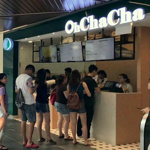 OH CHA CHA tea house in Singapore.