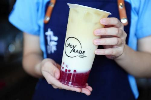 Playmade tea, available in Singapore.