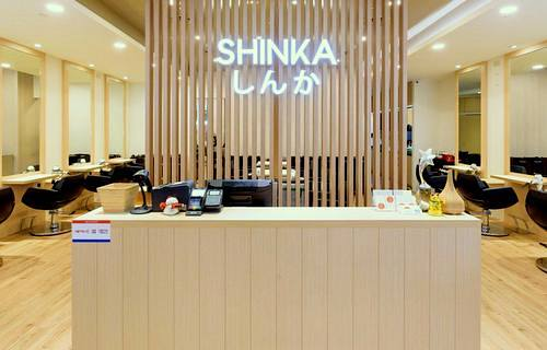Shinka hair salon at Northpoint City mall in Singapore.
