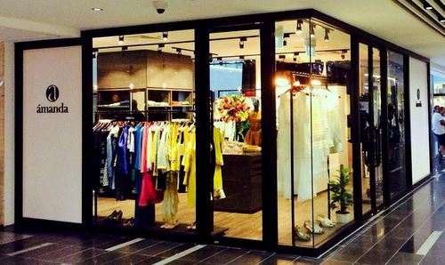 Amanda clothing store at One Raffles Place in Singapore.