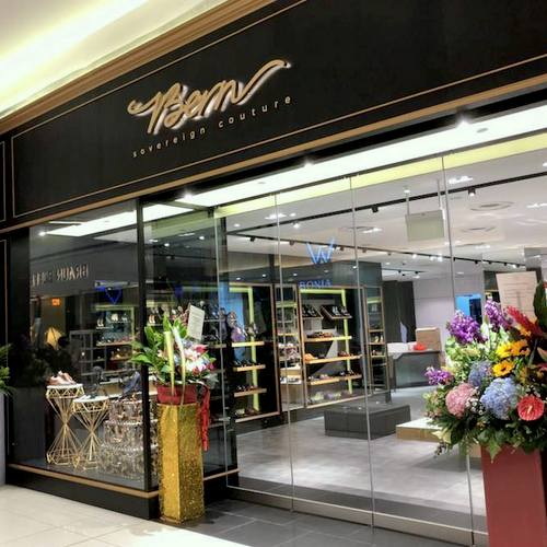 Bern Sovereign Couture shoe shop at Suntec City mall in Singapore.