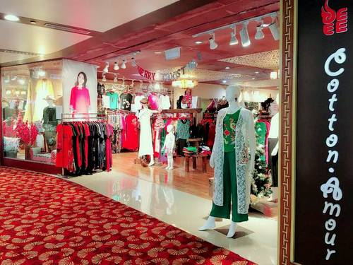 Cotton Amour clothing store at Chinatown Point mall in Singapore.
