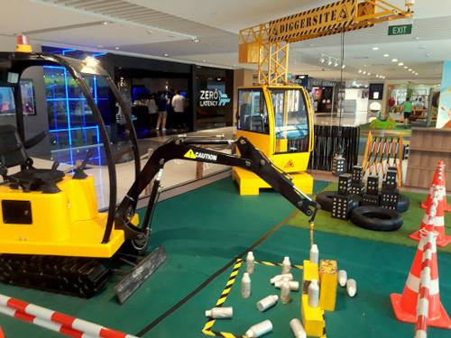 Diggersite playground at Suntec City shopping centre in Singapore.