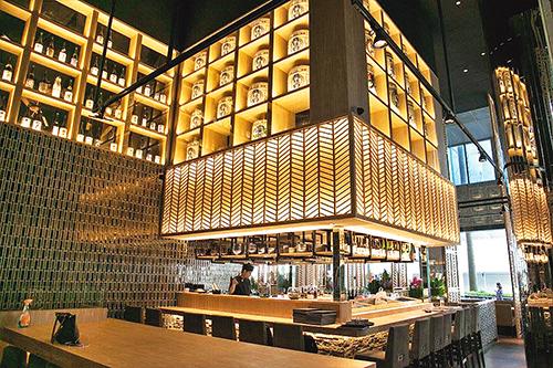 En Sakaba Japanese bar-restaurant at Capital Tower in Singapore.