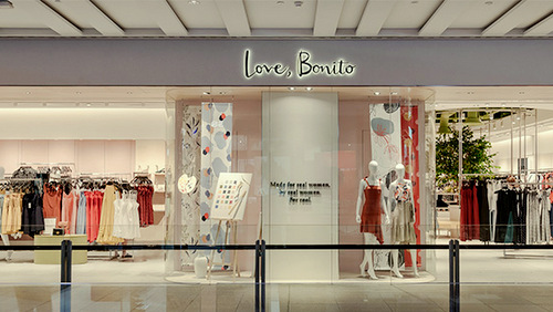 Love, Bonito clothing store at 313@Somerset mall in Singapore.