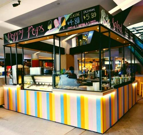 Poppy Pops popsicle cafe at The Star Vista mall in Singapore.