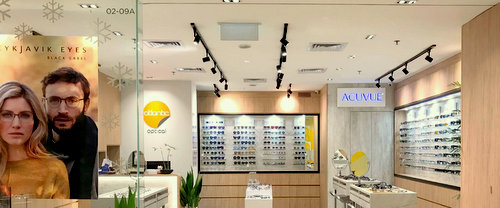 Atlantic Optical shop at Wheelock Place shopping centre in Singapore.