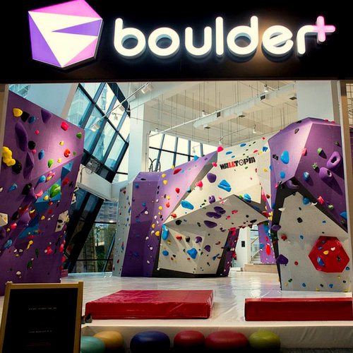 Boulder+ Climbing Gym at Aperia Mall in Singapore.