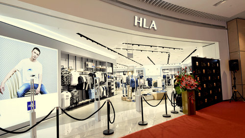 HLA clothing shop at Suntec City mall in Singapore.