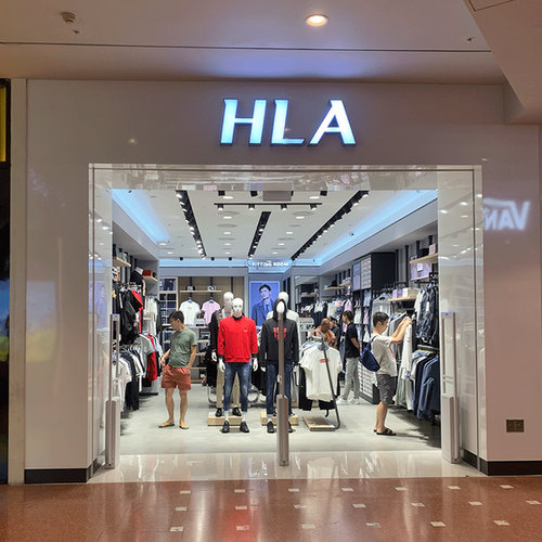 HLA clothing store at Jurong Point mall in Singapore.