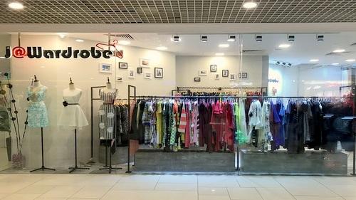 J@Wardrobe clothing shop at Parkway Parade mall in Singapore.