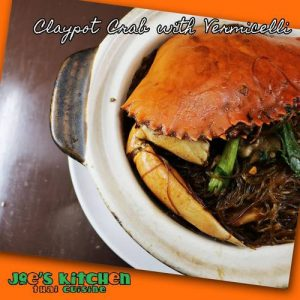Joe's Thai Kitchen restaurant's Claypot Crab with Vermicelli meal, available in Singapore.