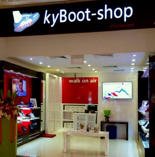 KyBoot - Shop of Switzerland shoe store at Suntec City in Singapore.