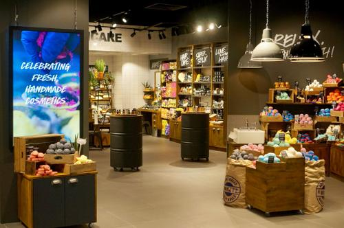 LUSH cosmetics, available in Singapore.