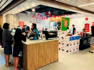Mayer showroom store at SingPost Centre in Singapore.