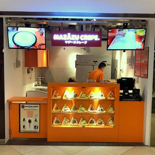 Mazazu Crepe shop at 112 Katong mall in Singapore.
