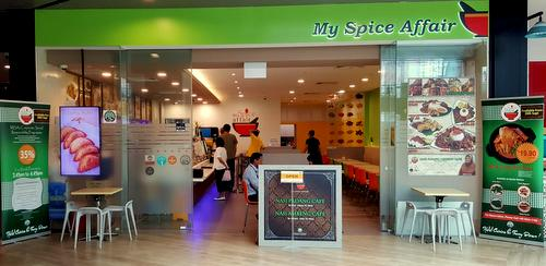 My Spice Affair Malaysian restaurant at Aperia Mall in Singapore.
