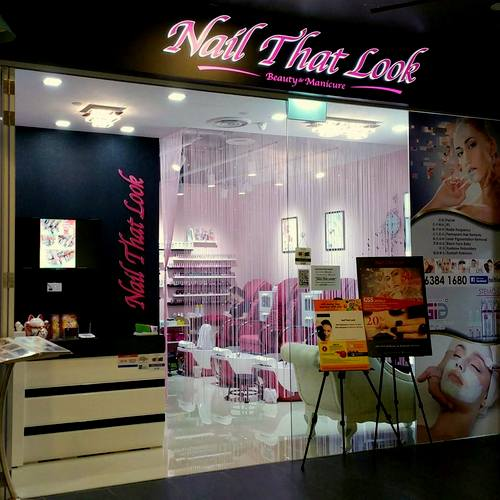 Nail That Look beauty salon at Aperia mall in Singapore.