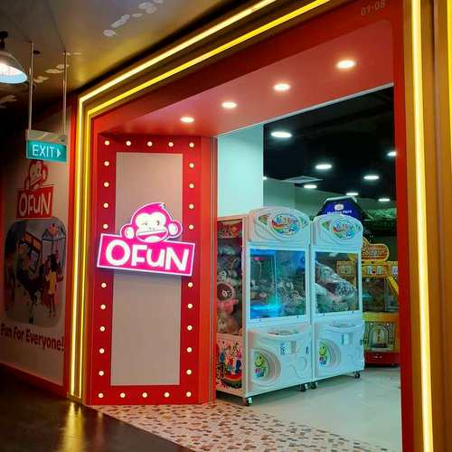OFUN gaming arcade at Aperia Mall in Singapore.