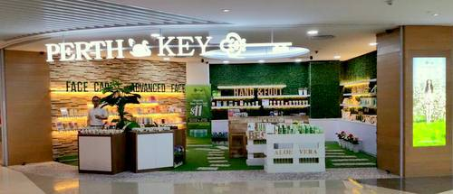 Perth's Key beauty & aromatherapy store at Suntec City mall in Singapore.
