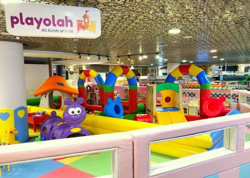 Playolah indoor playground at 112 Katong shopping mall in Singapore.