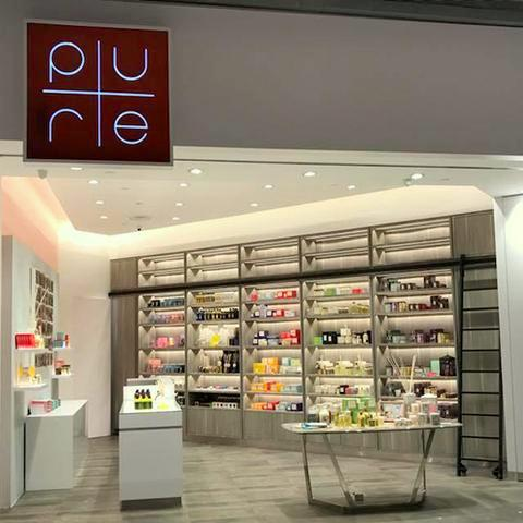 PURE aromatherapy shop at Suntec City mall in Singapore.