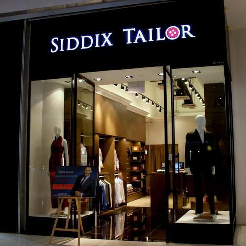Siddix Tailor shop at Suntec City mall in Singapore.