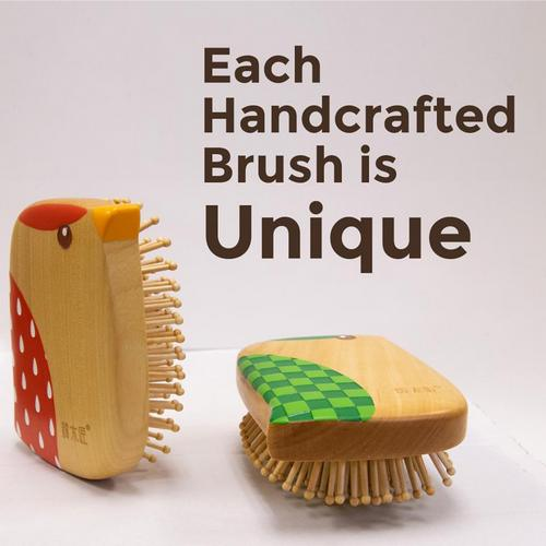 Tan Mujiang hairbrushes, available in Singapore.