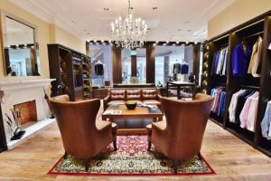 The Bespoke Club tailor shop at Suntec City mall in Singapore.