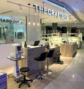 The Crafters Optical shop at 112 Katong mall in Singapore.