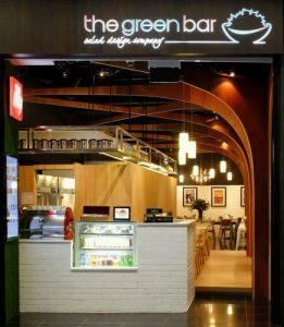 The Green Bar restaurant at Millennia Walk in Singapore.