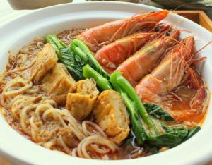 Xi Yan Chinese meal, available in Singapore.