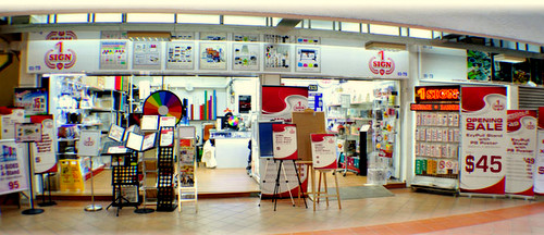 1 Sign store at Bras Basah Complex in Singapore.