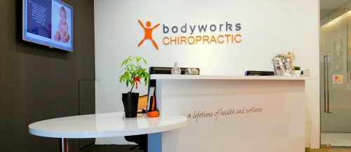 Bodyworks Chiropractic clinic at Aperia Mall in Singapore.
