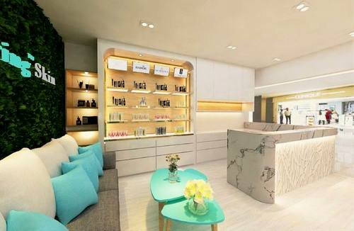 Caring Skin beauty salon at Bedok Point mall in Singapore.
