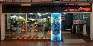 Li-Ning sportswear store in Singapore.