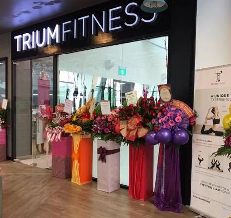 Trium Fitness yoga studio at Aperia Mall in Singapore.