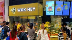 Wok Hey Chinese restaurant at AMK Hub shopping centre in Singapore.